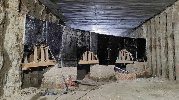 Hallados restos del camino de ronda del Cuartel de San Gil