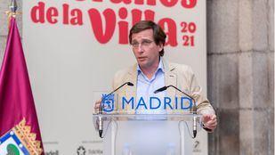 José Luis Martínez-Almeida durante la presentación de los Veranos de la Villa 2021