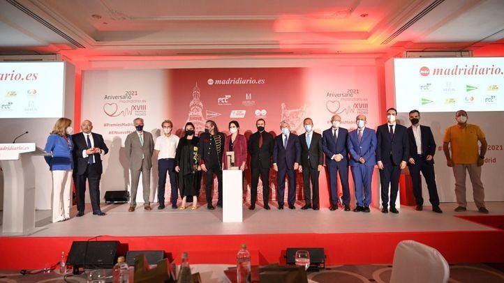 Camela, Ayuso y Simón cierran la vuelta de los Premios Madrid