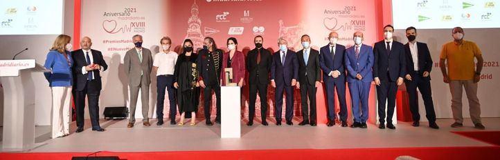 Foto de grupo de los Premios Madrid