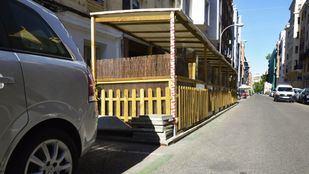 Terrazas en aparcamientos