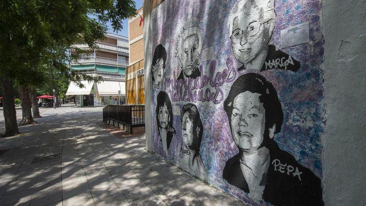 Rechazada la propuesta de Vox para eliminar un mural feminista de un colegio en Villa de Vallecas