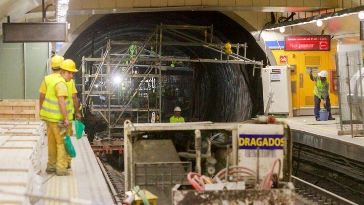 Obras en el Metro de Madrid
