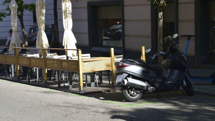 Terrazas COVID en aparcamientos