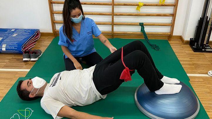 Fisioterapia en la asociación AODEM.