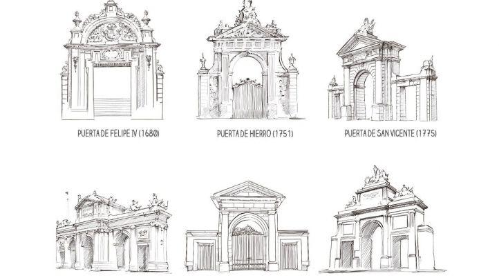 Ilustraciones del libro 'Trazos de Madrid'