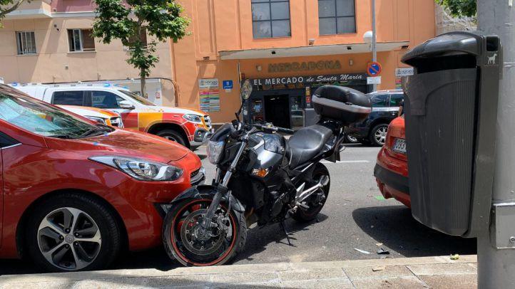 Arrollado por una moto cuando cruzaba la calle indebidamente en Arganzuela