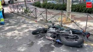 Herido grave un motorista al chocar con una furgoneta en Alcorcón