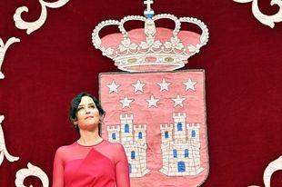 Isabel Díaz Ayuso durante el acto de toma de posesión como presidenta de la Comunidad de Madrid