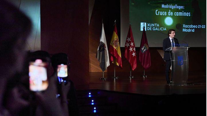 El alcalde de Madrid, José Luis Martínez-Almeida, interviene en la presentación de la Semana Xacobeo 21