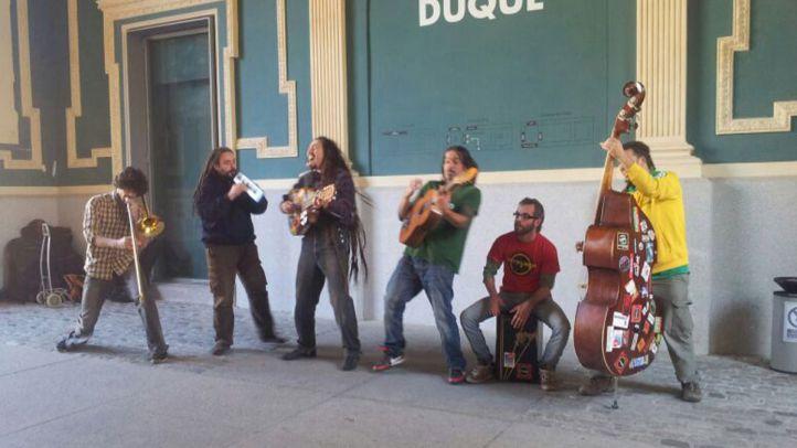 Músicos calllejeros en Madrid.