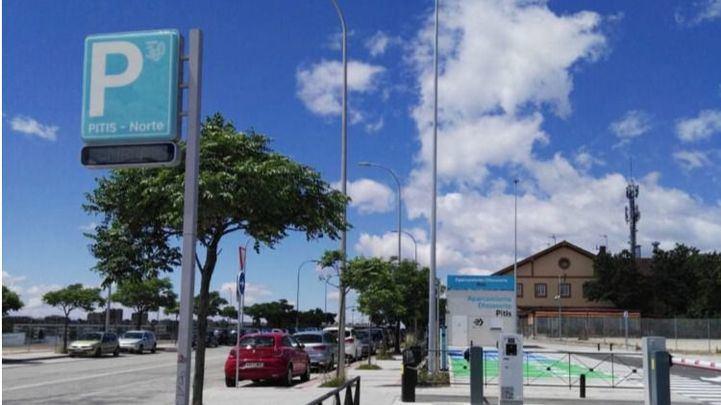 Aparcamiento intermodal de Pitis, en Fuencarral-El Pardo