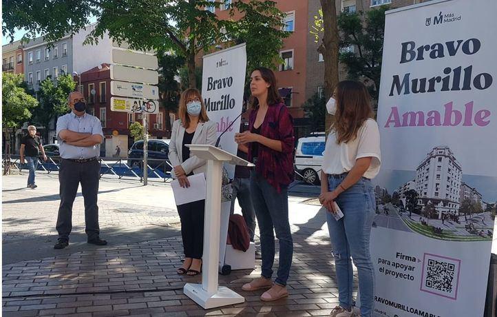 Rita Maestre presenta el plan de Más Madrid para reformar Bravo Murillo.