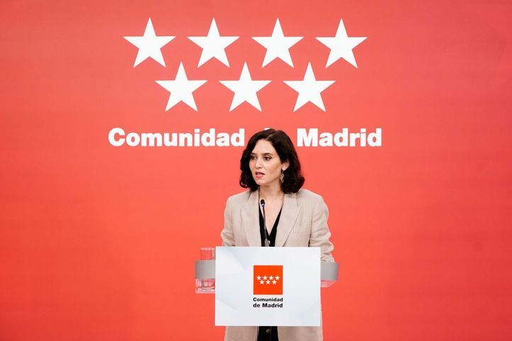 Isabel Díaz Ayuso tras el consejo de Gobierno