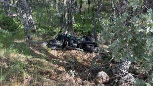 Herido grave tras caer con su moto por un barranco en Miraflores de la Sierra