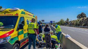 Grave un motorista de 37 años al colisionar contra un todoterreno en la M-501 a la altura de Chapinería