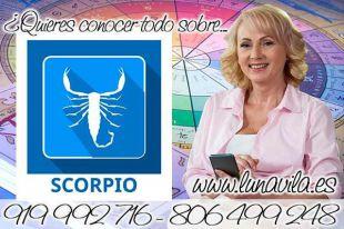 Luna Vila es de las expertas tarotistas en Collado Villalba. Hoy debes aceptar la oferta de trabajo que te ofrecen Escorpio