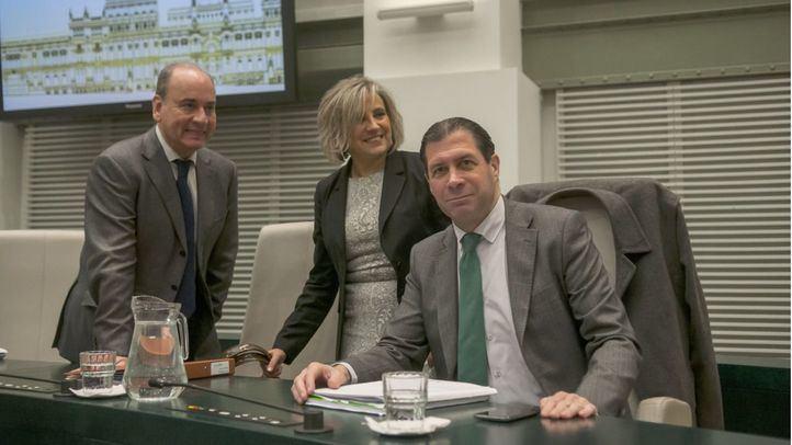 Los concejales de Vox en el Ayuntamiento en una foto de archivo.