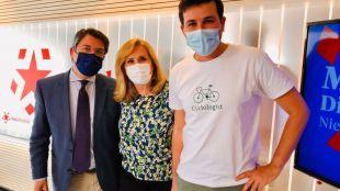Pedro Muñoz Abrines, Nieves Herrero y Pablo Gómez Perpinyà en Com.Permiso