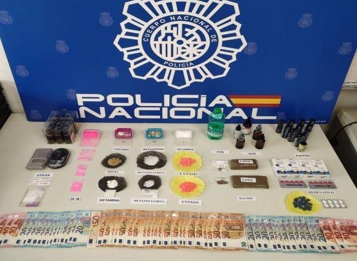 Desarticulados tres puntos de venta de droga en Chueca y Puente de Vallecas