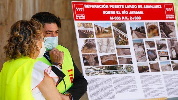 Reabiertos al tráfico los puentes de la M-305 sobre la M-307 y el ferrocarril en Aranjuez