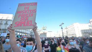 Un detenido en la marcha no autorizada tras la concentración por el asesinato de Samuel