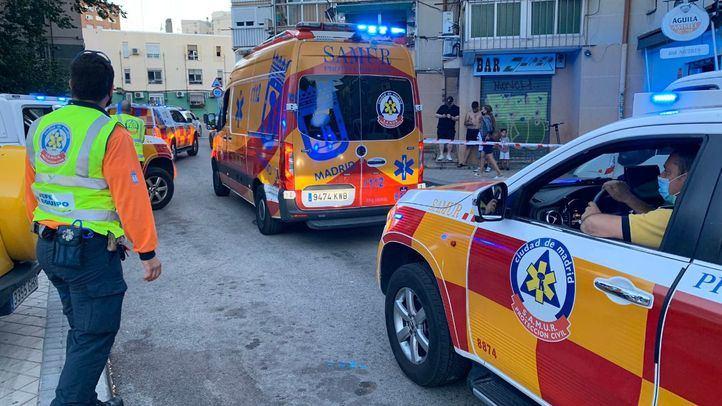 Los servicios de emergencias en San Blas.