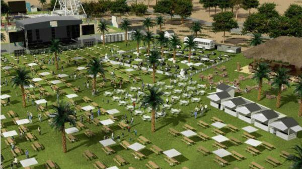 Vista aérea de Mad Beach Club