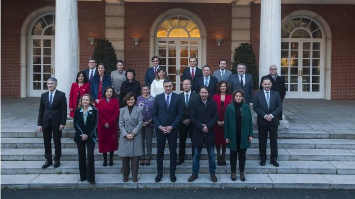 Foto de archivo del primer Consejo de Ministros del actual Gobierno.
