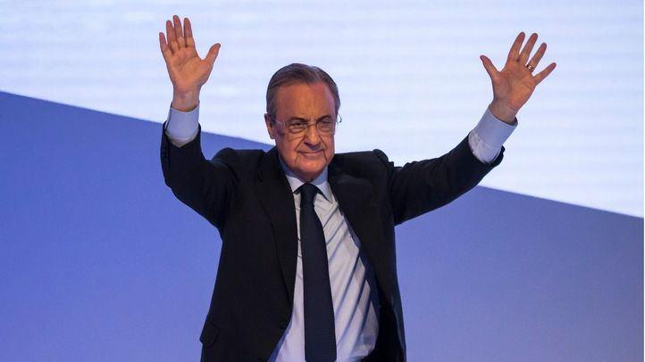 Florentino Pérez en una asamblea general del Real Madrid