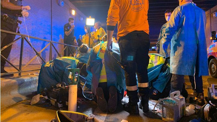 Los médicos del Samur confirmaron el fallecimiento tras 30 minutos de maniobras de renimación