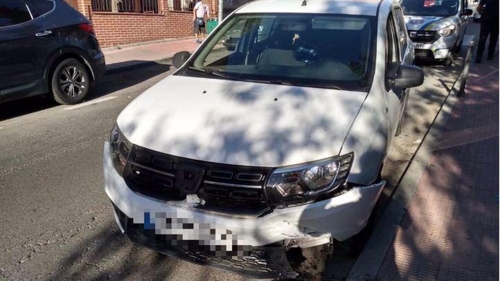 Detenido en Valdemoro tras estampar su coche contra un muro al no poder acceder a un domicilio.