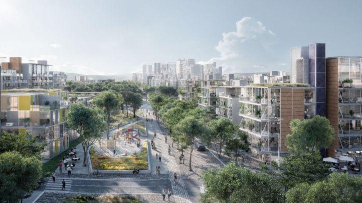 Recreación de cómo será la zona norte de la ciudad cuando termine de materializarse el proyecto Madrid Nuevo Norte