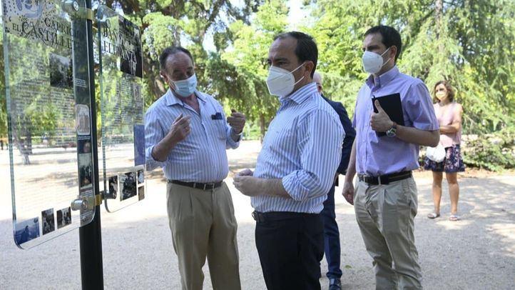 Borja Carabante visita las obras de rehabilitación del entorno del Observatorio Meteorológico y su integración en los jardines del Buen Retiro