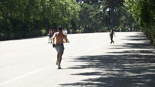 El Retiro y ocho parques mantendrán esta tarde varias zonas balizadas por altas temperaturas