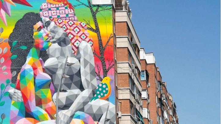 Mural de Okuda en Madrid Río