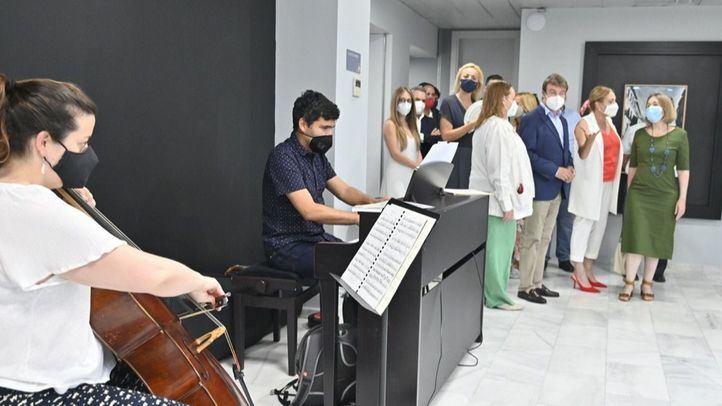 Visita de la consejera a la inauguración de Factoría Cultural en Tres Cantos