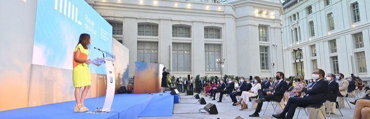 Los implicados en Paisaje de la Luz celebran en Cibeles su título de Patrimonio Mundial