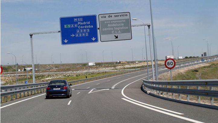 Un tramo de la M-50, desde Paracuellos a las Rozas, cortado por obras del 2 al 4 de agosto