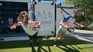 'Cubo Gym Madrid', el gimnasio portátil de la capital