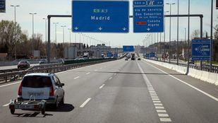Corte de carriles a la altura del Puerto de Somosierra (A1) en sentido Madrid a partir de este lunes