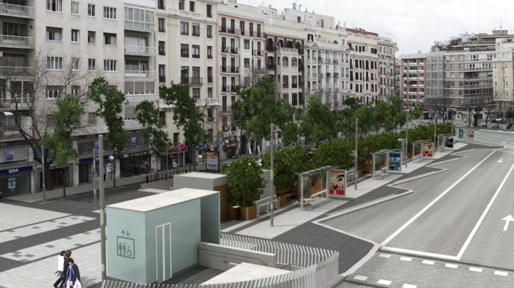 Simulación de cómo se verá la Plaza de Felipe II tras su remodelación.