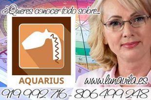 En el chat de videntes en directo, casi gratis, está Luna Vila: Acuario hoy revela tendrás un encuentro con un gran amigo.