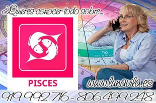 Luna Vila te dirá como leer las cartas del tarot de Marsella: Hoy Piscis, en el horóscopo, si piensas en positivo atraerás lo positivo