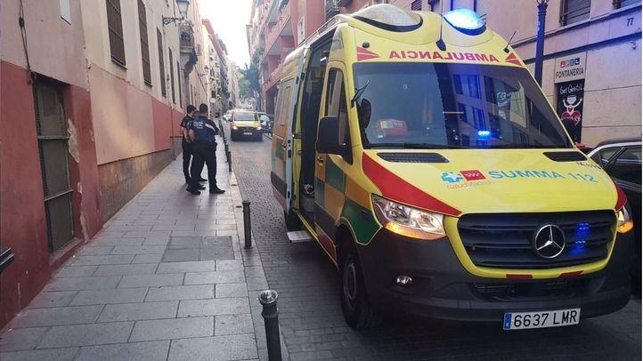 Ambulancia en el lugar de los hechos