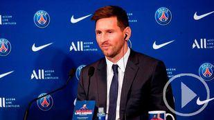El primer día de Messi en París