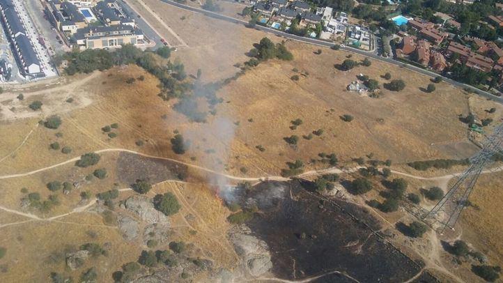 Zona afectada por el incendio