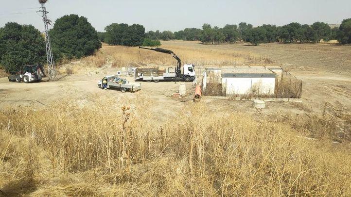 Iniciadas las obras para dejar de verter aguas fecales al Manzanares en Perales del Río