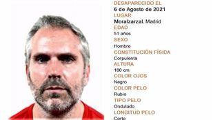 Desaparecido un hombre de 51 años desde el 6 de agosto en Moralzarzal