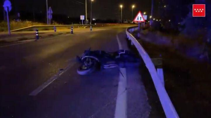 Accidente de moto en Colmenar Viejo